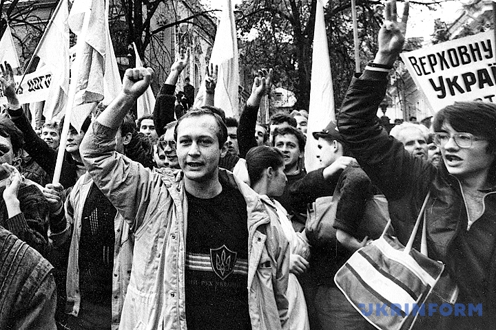На фото: Студентська революція на граніті