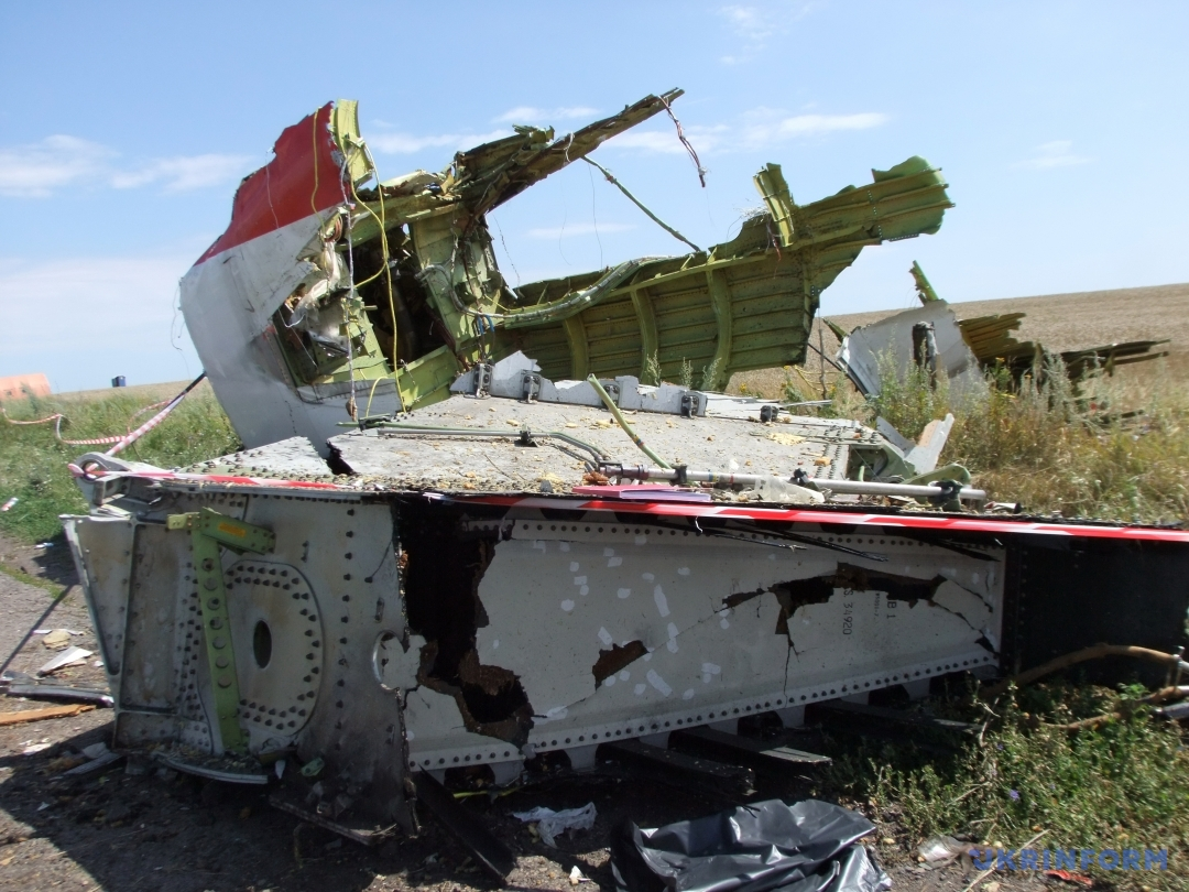 Обломки Боинга МН-17