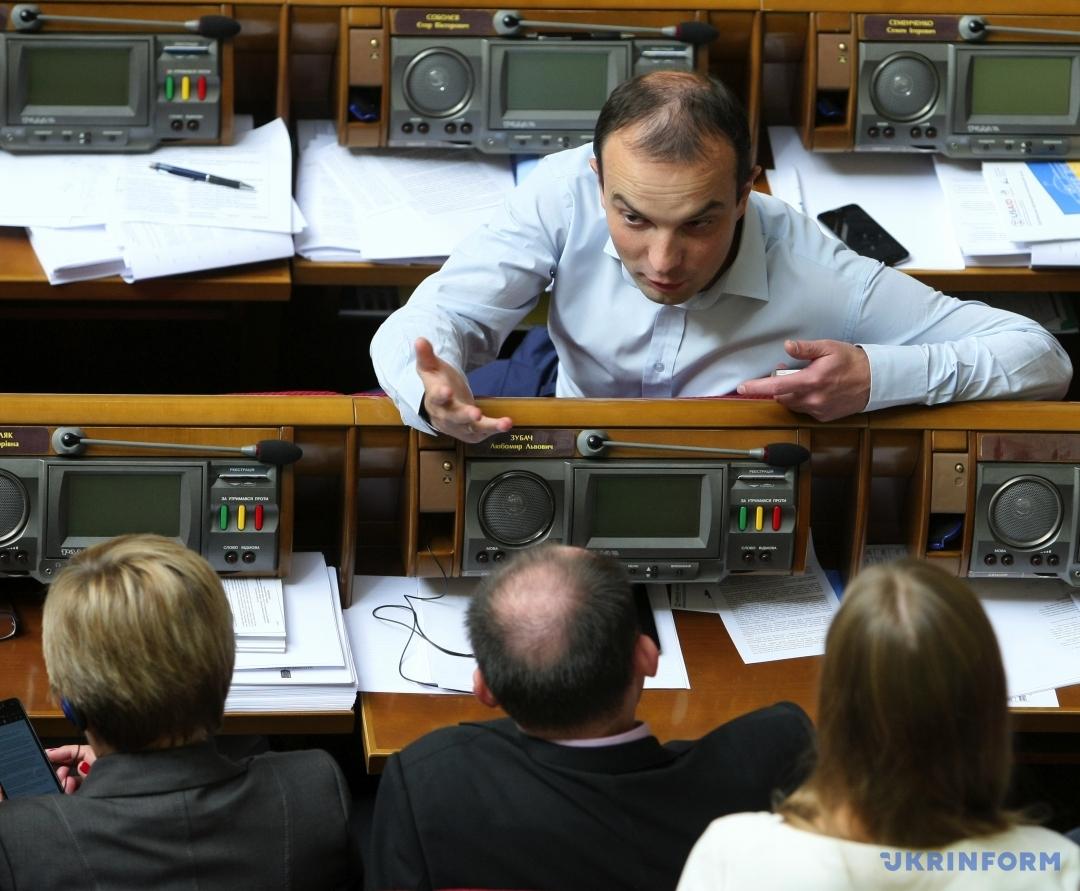 Егор Соболев на заседании ВР