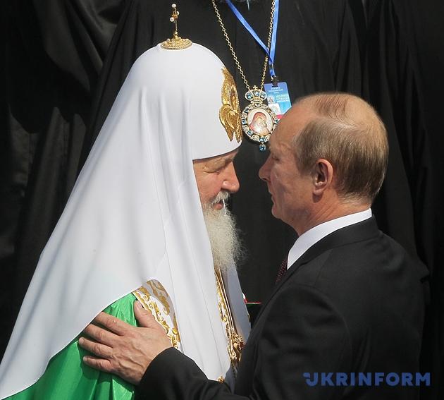 Патриарх Московский Кирилл и Владимир Путин