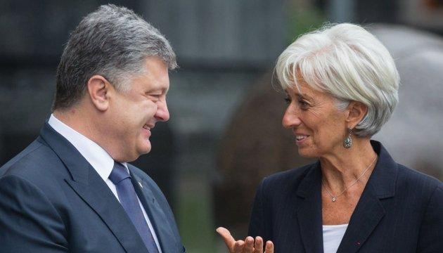 Порошенко і Лагард домовились про дорожню карту реформ