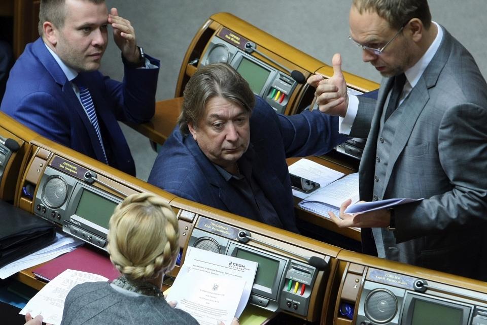 Народні депутати України під час засідання парламенту