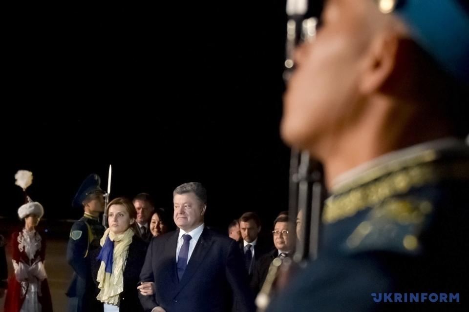 Офіційний візит Президента України до Казахстану/ Фото: Лазаренко Микола, Укрінформ