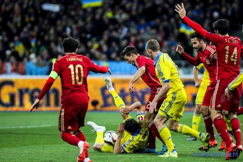 Україна програла Іспанії у відборі на Євро-2016/Фото: Петрасюк Олег. Укрінформ
