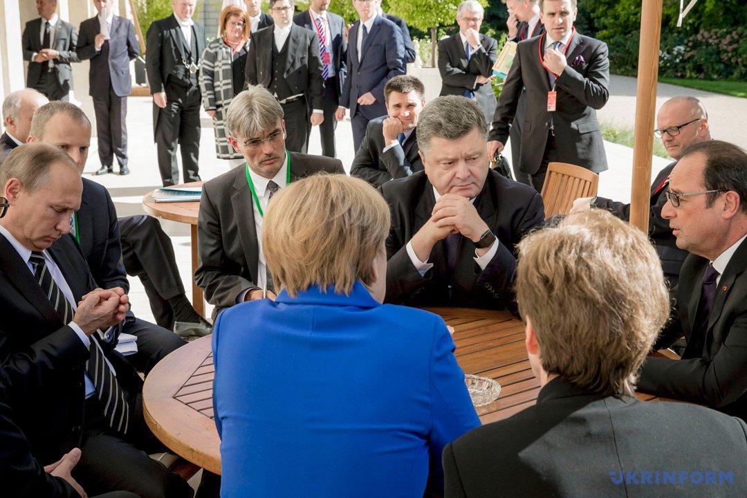Путін, Меркель, Порошенко, Олланд