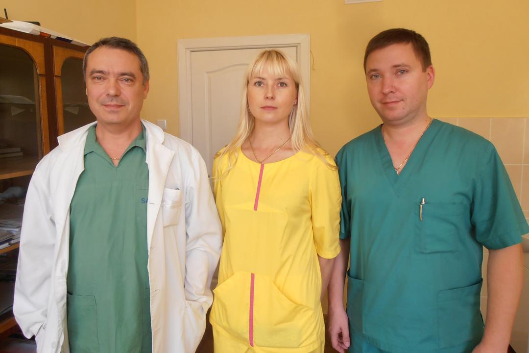 Операционная бригада из Донецка: Деркач, Сумцова, Лоскутов