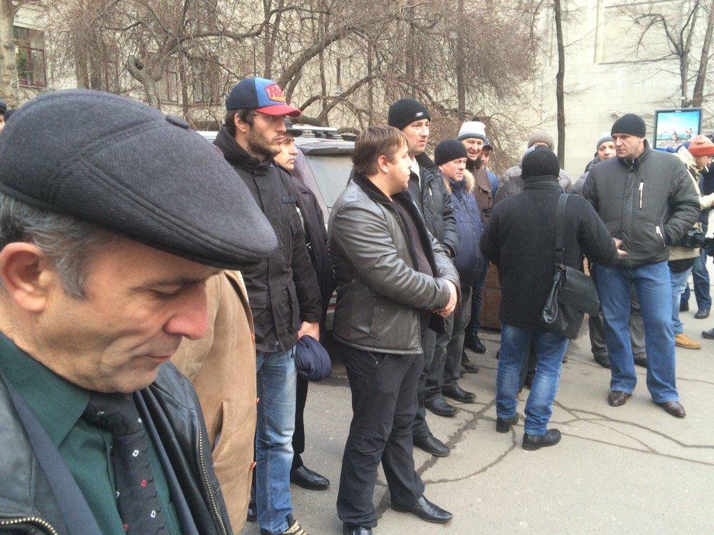 УМоскві під Адміністрацією Путіна відбувся мітинг далекобійників