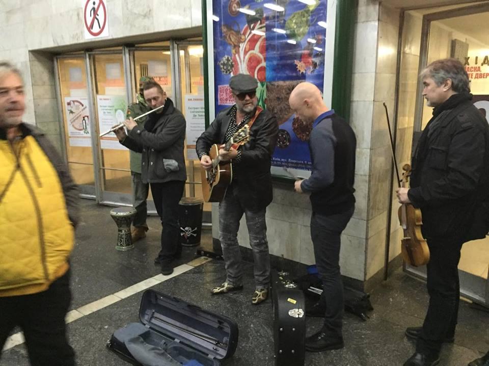 Борис Гребенщиков співав укиївському метро