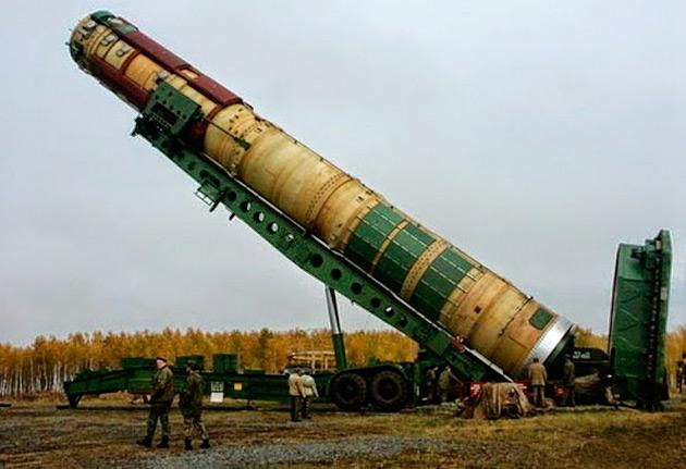 Установка ТПК с ракетой Р-36М2