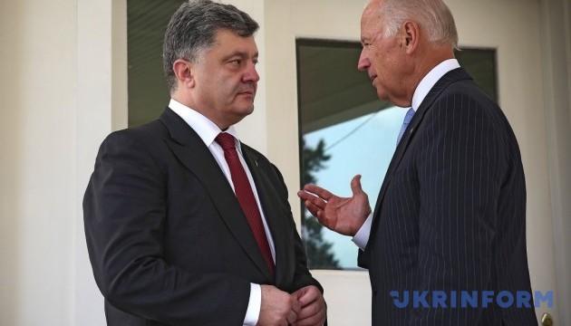 Порошенко і Байден скоординували продовження тиску на РФ