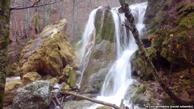 УКриму обвалився водоспад Срібні струмені