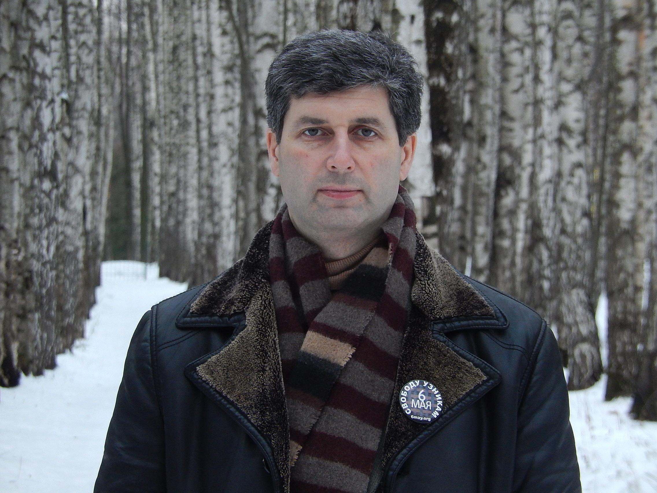 Марк Гальперин в парке у дома - декабрь 2015 г.