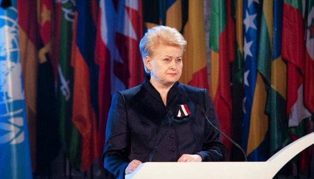 Грибаускайте: На войну надо ответить войной против терроризма