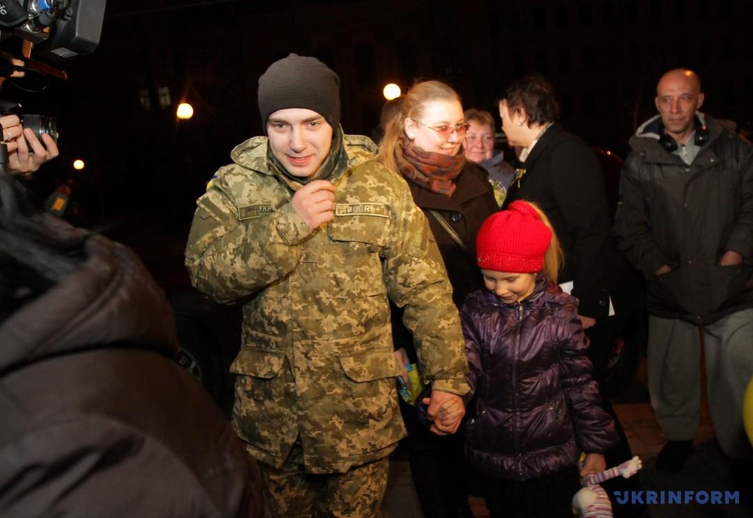 Олександр Макух із донькою