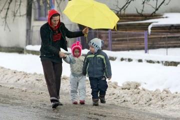 В Украине в воскресенье облачно, с дождями и снегом