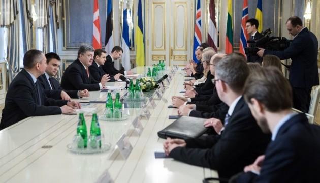Порошенко розповів спікерам NB8 про ситуацію на Донбасі