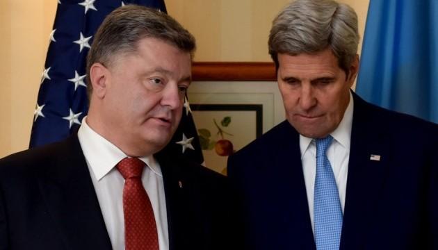 Порошенко і Керрі обговорили дипломатичні шляхи з деокупації Криму