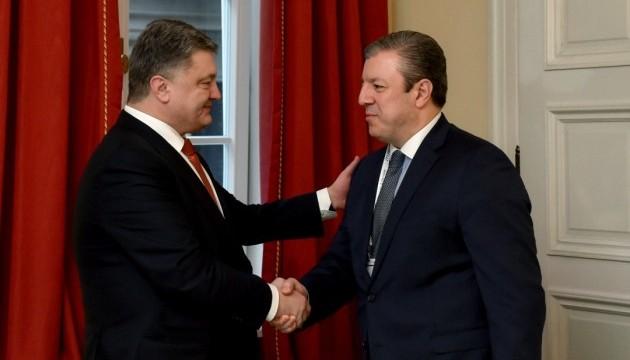 Порошенко з прем'єром Грузії обговорили новий «шовковий шлях» в обхід РФ