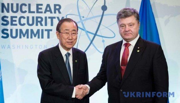 Україна вимагає від світу об'єднатися проти розміщення ядерної зброї у Криму – Порошенко