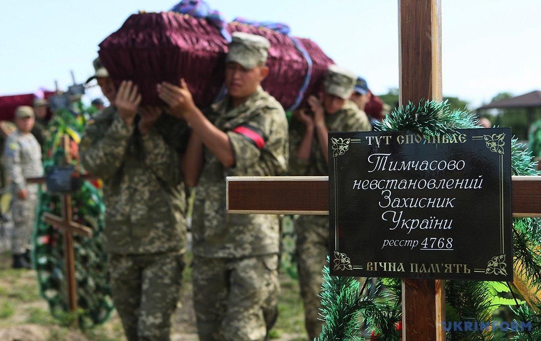 Прощання з загиблими героями