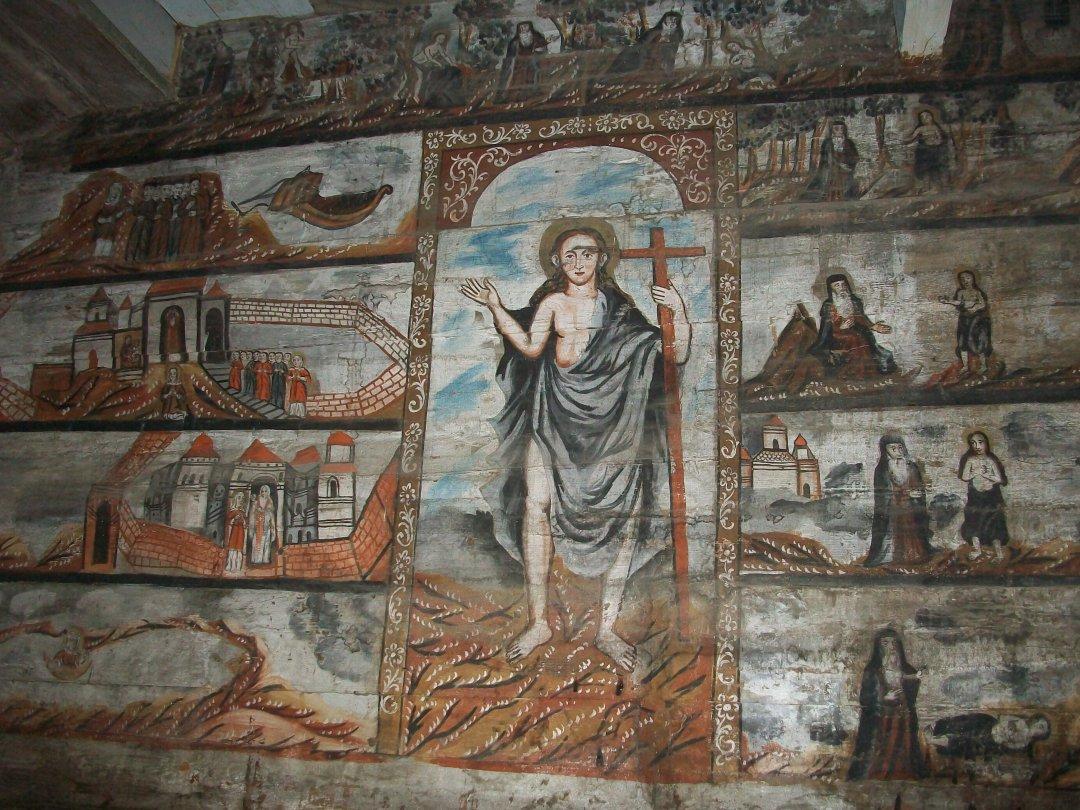 Настінні малюнки у Церкві Святого Юра