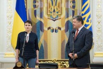 Президент: Так само, як Надію, повернемо Донбас і Крим