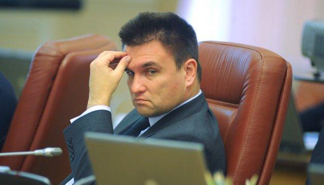 Клімкін сказав, із якими думками мають прокидатися й засинати дипломати