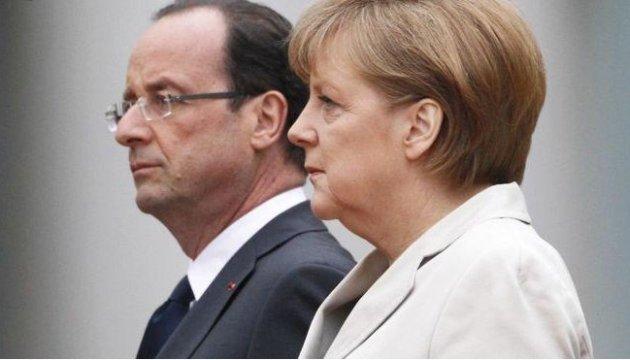Олланд і Меркель виступили за припинення вогню на Донбасі
