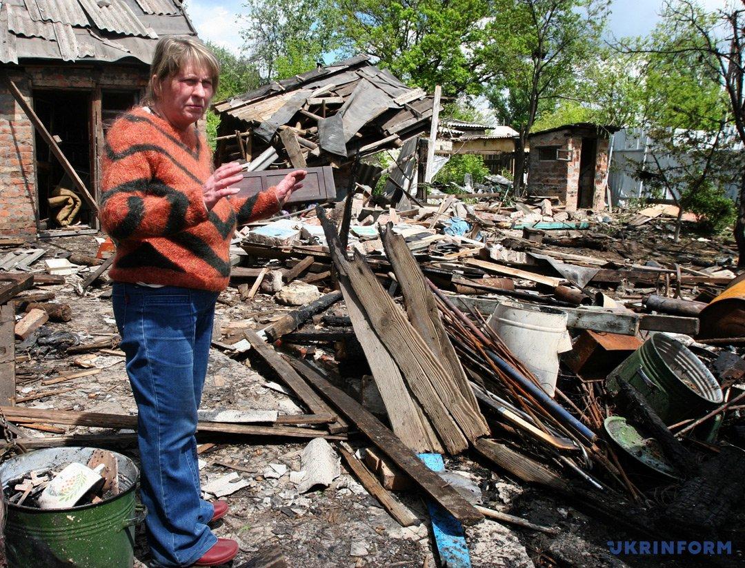 Наслідки обстрілу бойовиками Горлівки / Фото: Юлій Зозуля, Укрінформ