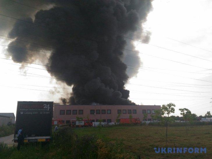 пожар на обувной фабрике под Бухарестом