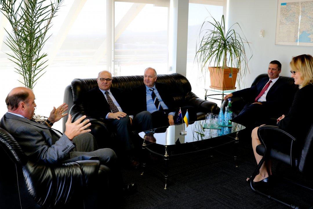 Зустріч керівництва «Дністра» з послом України в Австралії