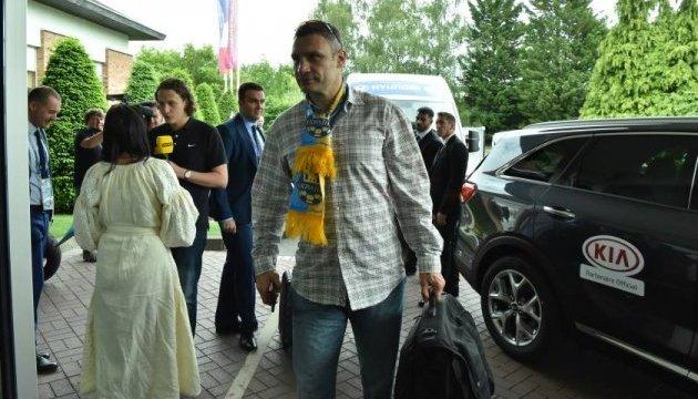 Кличко і Джамала зібрались на перший матч збірної