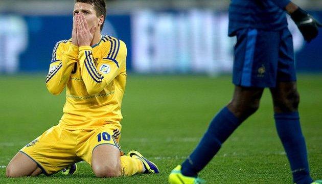 Невдача на Євро 2016 опустила Україну на 11 рядків у рейтингу ФІФА