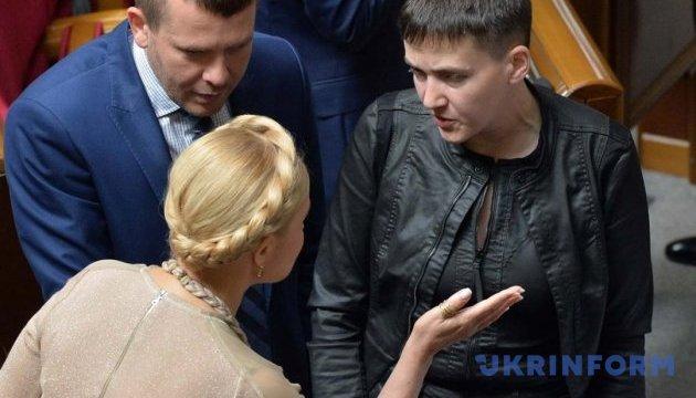 Тимошенко пояснила, чому Савченко мітингує з Опоблоком