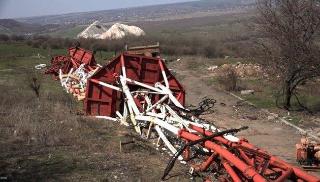На горе Карачун восстанавливают разрушенную телевышку