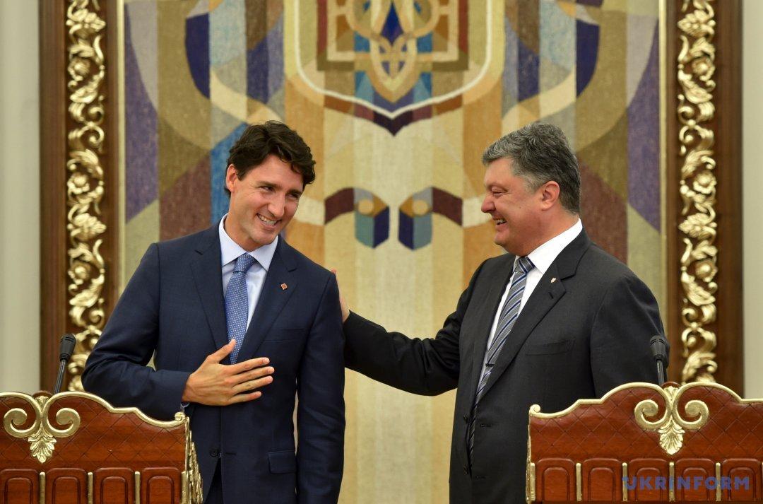 Джастін Трюдо і Петро Порошенко