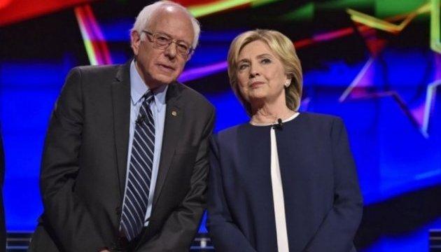 Сандерс официально заявил о поддержке Клинтон