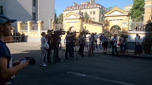 Савченко привела мітинг під Адміністрацію Президента