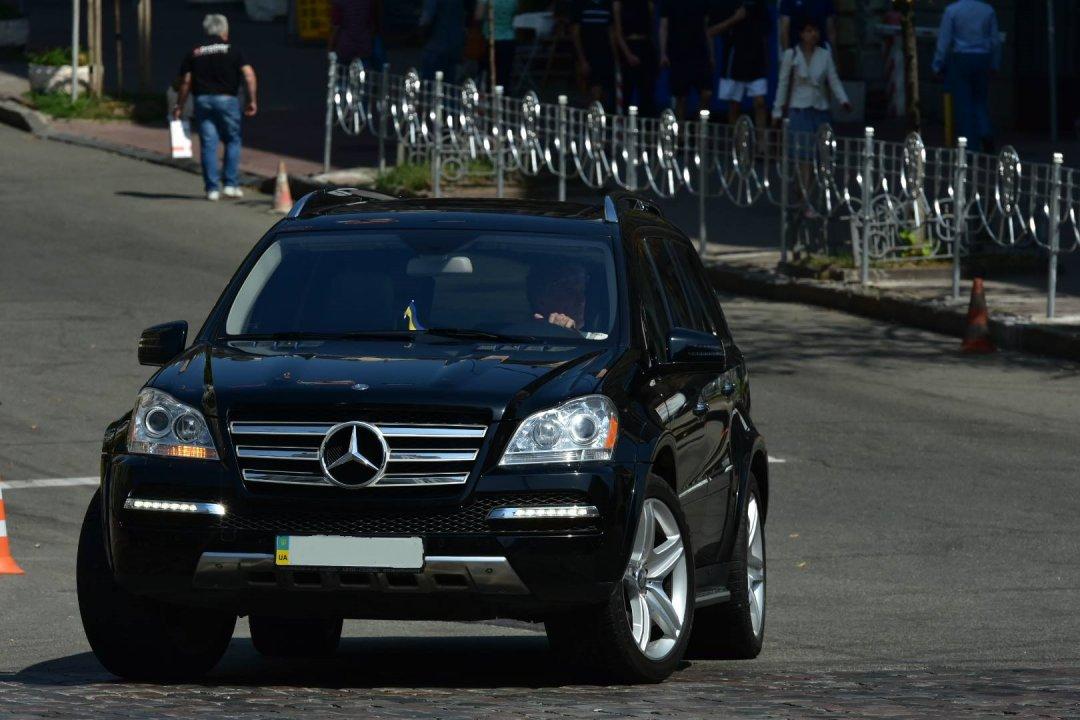 Виктора Ющенко словили на несоблюдении ПДД