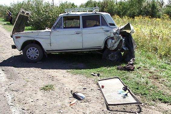 Розбита автівка ВАЗ 2106 Фото: НПУ