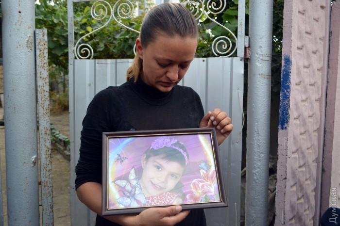Мати вбитої дівчинки. Фото: Думская.