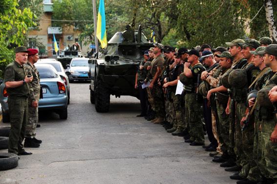 ВДонецкой области полицейские перешли наусиленный режим несения службы