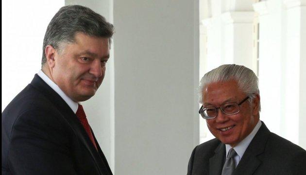 Порошенко запросив президента Сінгапуру до Києва