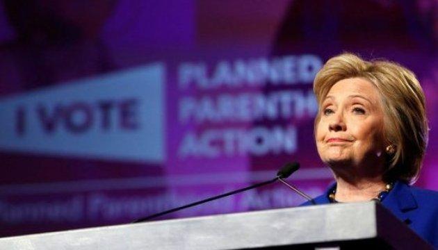 Отрыв Клинтон от Трампа сократился более чем в два раза