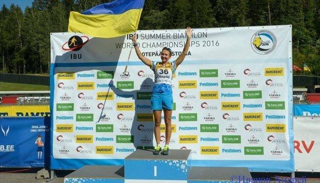 """Підгрушна взяла """"срібло"""" літнього Чемпіонату світу з біатлону"""
