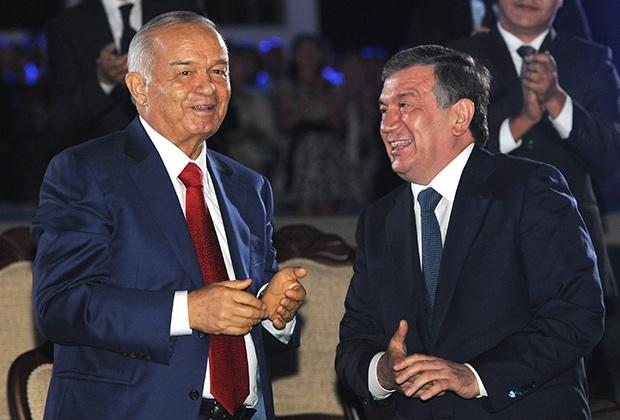 На фото: покійний президент Узбекистану Іслам Карімов (ліворуч), в. о. глави Республіки Шавкат Мірзіяєв (праворуч)