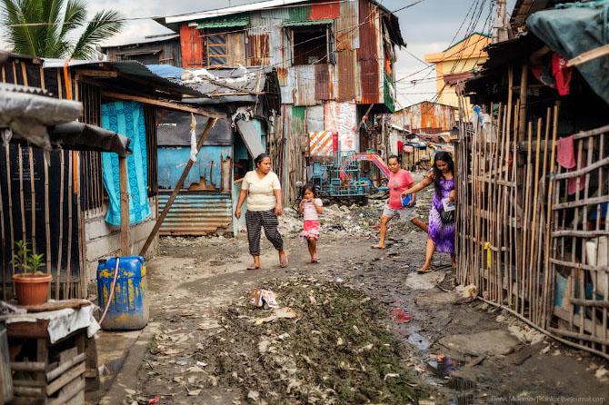 На фото: Один із районів Філіппін, так зване, філіппінське гетто