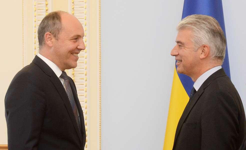 Парубий уверил посла ФРГ: вУкраинском государстве не опасаются выборов наДонбассе