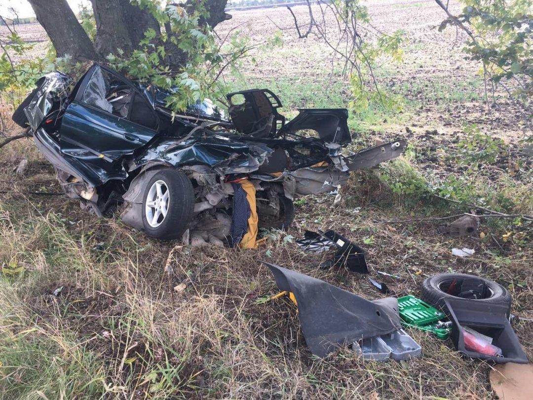 Авто согнуло донеузнаваемости в итоге жуткого ДТП наДнепропетровщине