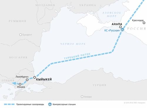 «Газпром» получил разрешение наработы по«Турецкому потоку»